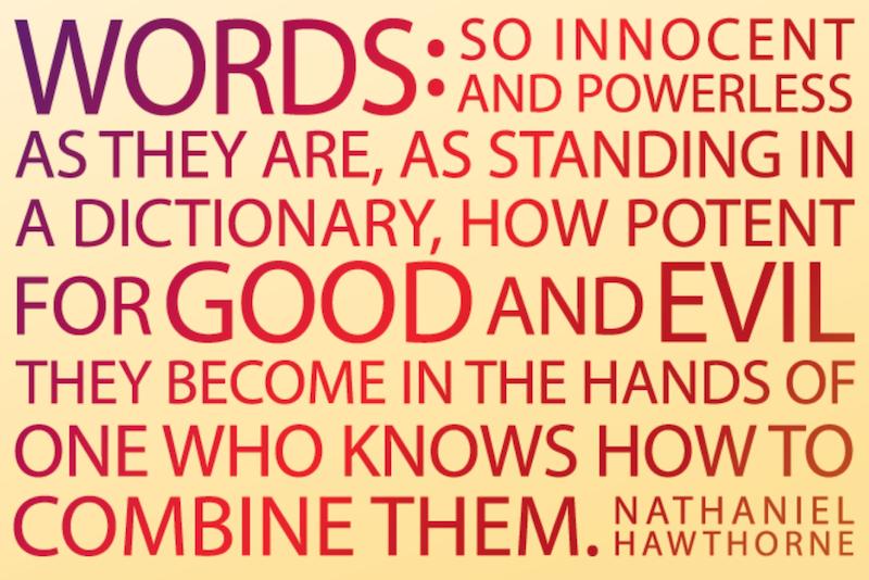 Palabras que envenenan / palabras que sanan